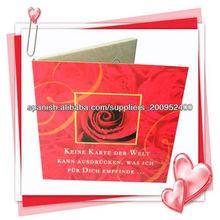 tarjeta de papel de la invitación/tarjeta de invitación de papel
