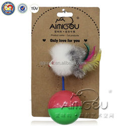 natural feather & plush cat toy & cat toy undercover mouse fabric