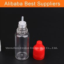 wholesale bottle pet 30ml e liquid and long drip pipe for esmoking juice