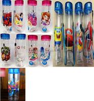 TF-01150716006 hot selling spiderman/ baymax/mouse/ frozen /cars/sponge bobbottle plastic bottle