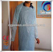 Disposable CPE surgical isolation gown(elasticated cuff/knitted cuff/thumb loop)