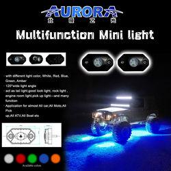 "New optical system 2"" 9W RGB mini led motorcycle lamp moto light"