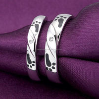 Romantic electroplating gifts for newly married couple korea silver 925 accept paypal silver ring designs women 2012
