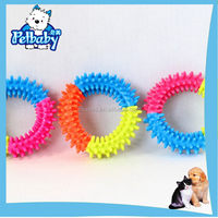 Cheap classical smiling latex chew squeaky dog toy ball