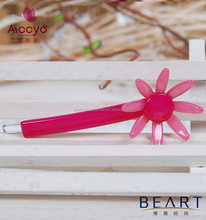 Nice accessory for baby and girls green stone bobby pin cellulose acetate silicon steel flower hair clip