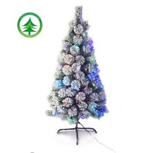 2015HOT selling snow christmas tree , pine needle tree with LED lights ,outdoor christmas decoration