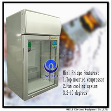 SC-55JP 55litres Desktop electric Hot selling hotel minibar custom energy drinks beer mini display cooler