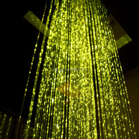 2015 high brightness diy fiber optic lighting curtain, waterfall curtain light