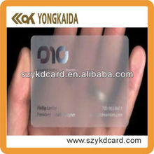 2014 New Product Contactless RFID Inkjet Printable Transparent PVC Card