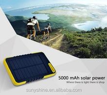 5000mAh Waterproof Solar Charger for Mobile Phones
