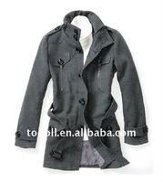 Men's Grey Wool Dust Coat