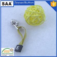 metal zippler slider rubber puller