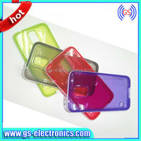 Enchanting transparent TPU with dual color frame cases for samsung galaxy S5 I9600