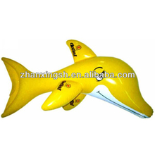 2014 shanghai zhanxing hot sale pvc fashion popular inflatable toy dolphin funny for kids in good price