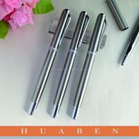 Huaben Promotional various durable using metal pen, silver metal pen