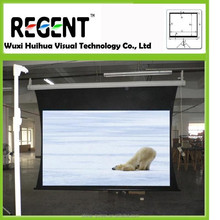 120inch 4:3 Front and Rear Tab-tension Projection Screen, Motorized Projector Screen, with RF/ IR Remote Control,