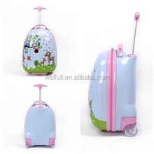 2015 Egg Shape Wheeled Trolley Travel Luggage Bag For Kids