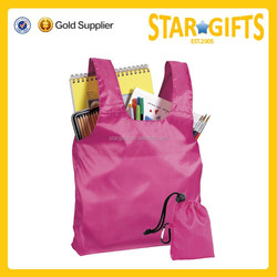 Promotional Cheap T-Shirt Type Polyester Foldable Bag