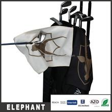 Elephant waffle texture custom brand printed golf towel with high quality