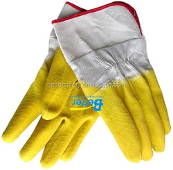 Woven Fabric Lined Latex Coated Wholesale Work Gloves Safety Cuff