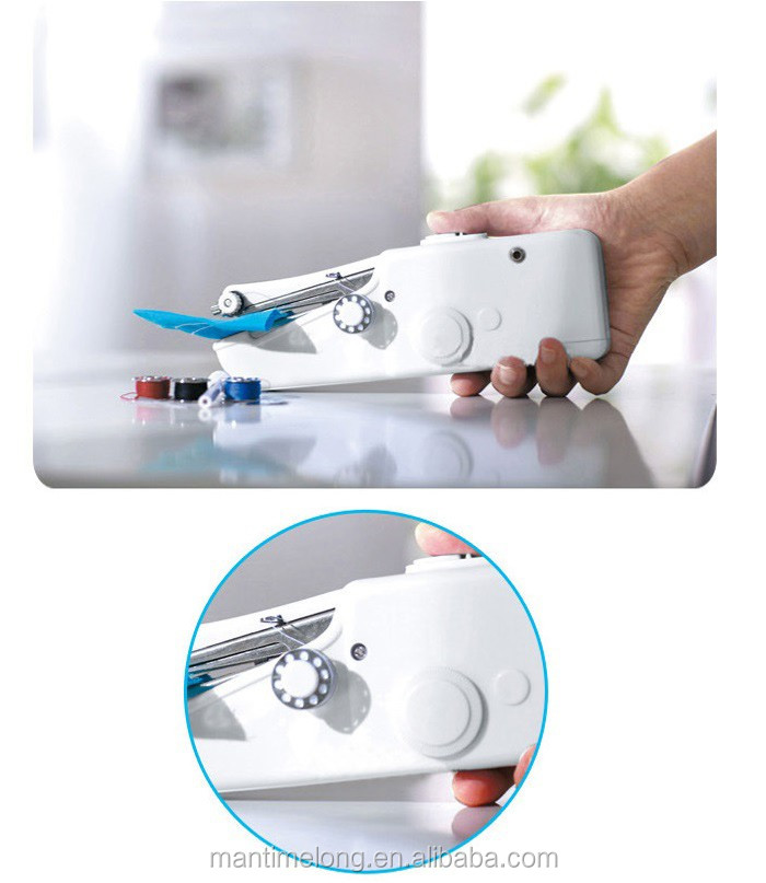 Portable Cordless Electric Mini Sewing Machine Mini Handheld Handy Adorable Portable Mini Electric Handheld Sewing Machine