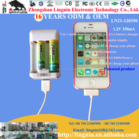 3 in 1 multi function battery charger for AA AAA NI-MH battery and mobile phone