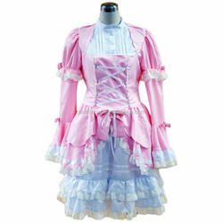 Girls Anime sexy Lolita dress Japanese Cosplay Maid Coffee Shop Cafe fancy pink dress