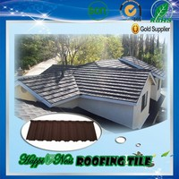 Happiness company Popular Stone Coated Metal stone Chip Coated Metal Roof Tiles using for house
