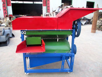Agricultural corn dehusker and tresher machine