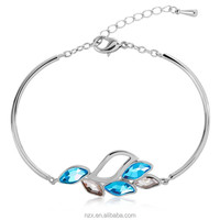 OUXI new design crystal fancy stone bangles 50016