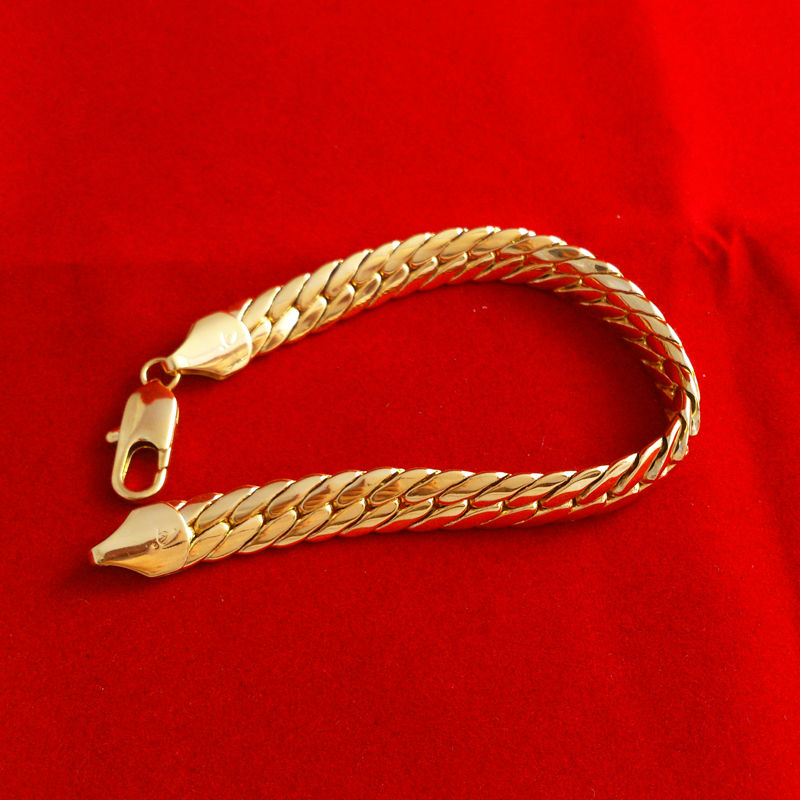 Wholesale-High Quality Fashion 24K Gold Bracelet Men Jewelry ...