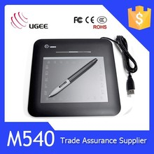 Ugee 5x4 inches USB and hotkeys M540 newest signature tablet