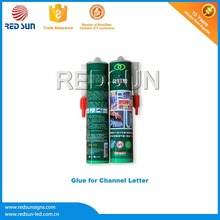 Thermally conductive silicon glass glue for channel letter