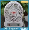 Strong Wind Mini USB Fan Adjustable 3 Speed Portable Rechargeable Ventilator Cooling Cooler Desk Fan Handheld Small Fan