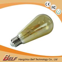 UL CE RoHS New 360 degree E27 ST64 LED Filament Bulb 2W 4W 6W 8W LED Filament Light