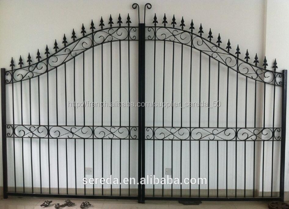 Largement utilis pour la maison et d coration de jardin portail en fer forg cl tures treillis - Portail de jardin en fer ...