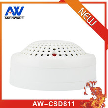 Indoor building management with fire alarm system smoke detector