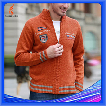 Computer Knitted Plus Size Cardigan Men Custom Knit Sweater