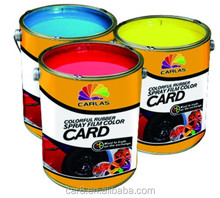 Carlas factory direct sale colorful car rim glow in the dark removable car spray paint