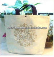 Green China Manufacturer New Style 100% high quality cotton wholesale tote bags