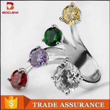 2015 wholeasle fashion party luxury women finger wedding cz diamond rings