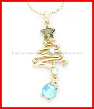 Fascinating crystal Christmas tree necklaces