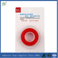 0.2mm X 19mm X 8M double sided custom polyester clear tapes with Blister Pacakge