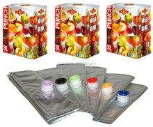 aluminum foil juice plastic bag with a variety of styles spout