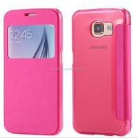 Custom Flip Cover Celine Phone Case for S6