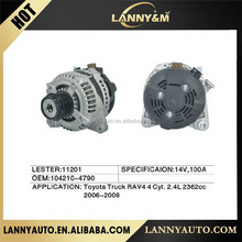 104210-4790 Toyota alternator , Auto parts 14V 100A alternator for Toyota LESTER:11201