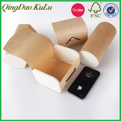 hot stamping natural wood material custom order chip wood packing box,wooden packing box