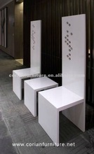 Corian built customer sized luxury waiting bench TC-12