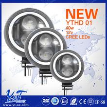 High safety 7 inch 12V 24V round led headlight for motorcycle meet DOT E-mark standard