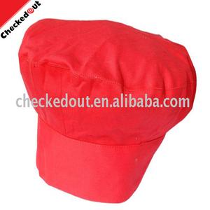 تعزيز مطعم المطبخ قبعات القطن الأحمر المشتركة بلات طبخ طاه قبعة